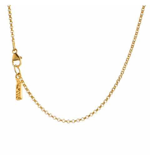 Naszyjnik MOTYLE MG2541 złocony królewskim 24karatowym złotem z nieoszlifowanym diamentem