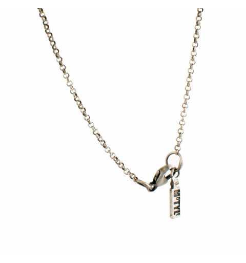 Srebrny naszyjnik MOTYLE w kolorze antycznego srebra z Kryształem Swarovskiego Crystal MS2534