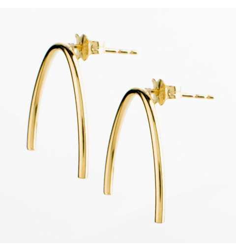 Złote kolczyki parabole