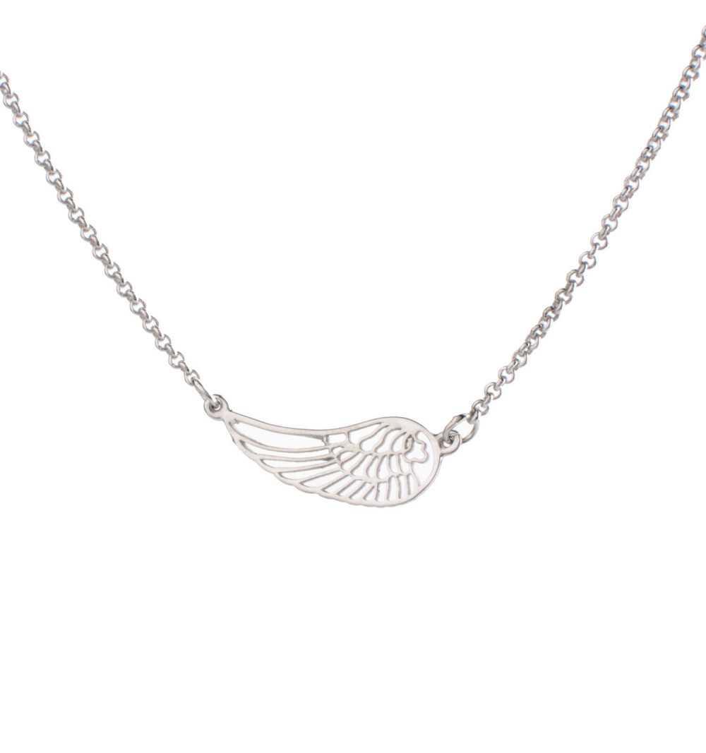 Srebrny naszyjnik z subtelnym skrzydełkiem