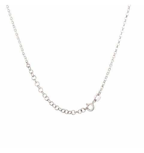 Srebrny naszyjnik z krzyżykami i koralikami