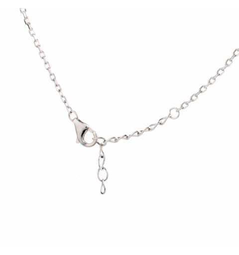 Srebrny naszyjnik z symbolem nieskończoności wysadzanym cyrkoniami