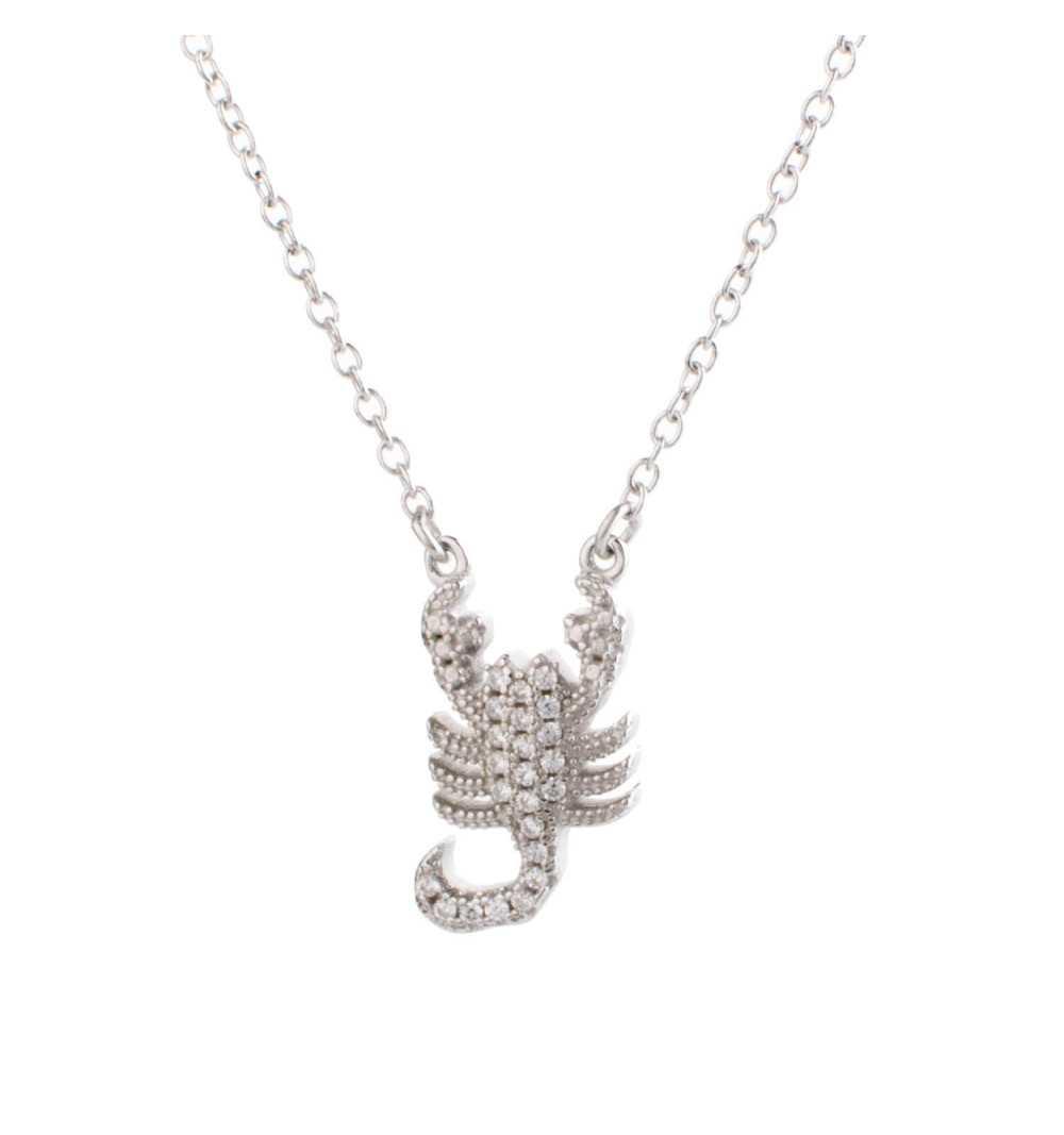 Srebrny naszyjnik skorpion znak zodiaku