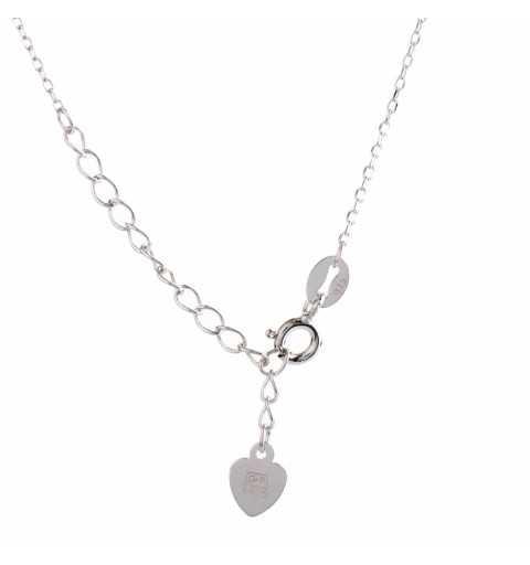 Modny srebrny naszyjnik z cyrkoniami