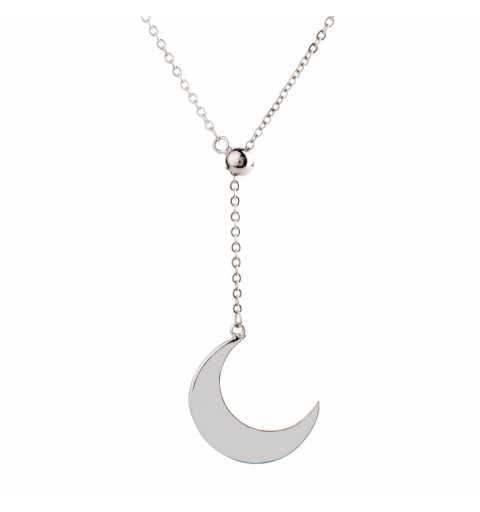 Srebrny naszyjnik półksiężyc