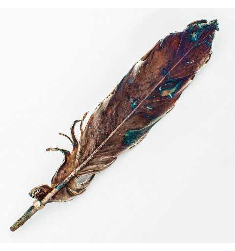 Srebrna broszka liść