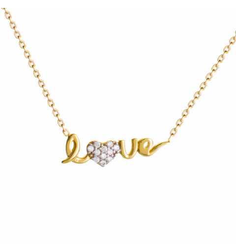 Złoty naszyjnik gwiazd celebrytka LOVE z sercem