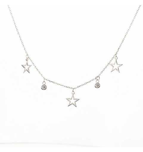 Srebrny naszyjnik z gwiazdkami
