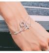 Srebrna bransoleta z okręgiem wysadzanym cyrkoniami