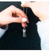 Srebrny naszyjnik MOTYLE z kryształem Swarovskiego MULTICOLOR