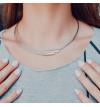 Srebrny naszyjnik na stalowych linkach