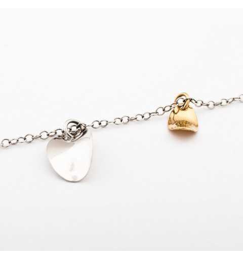 Złota bransoletka z białego i żółtego złota