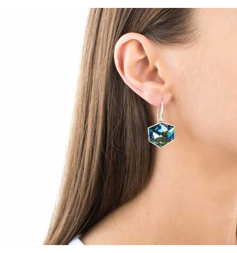 Srebrne kolczyki MOTYLE antyczne srebro oksydowane z Kryształami Swarovskiego Crystal Sahara