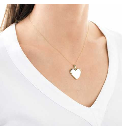 Złote puzderko serce na zdjęcie