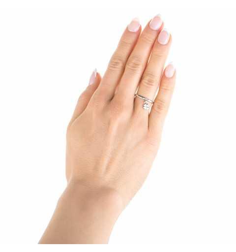 Srebrny pierścionek koniczyna