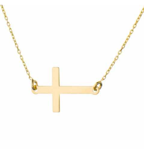 Złoty naszyjnik gwiazd krzyżyk