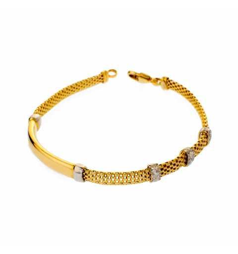 Złota bransoleta ze złotą...