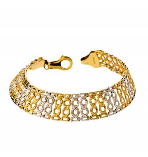 Złota bransoleta znaki...