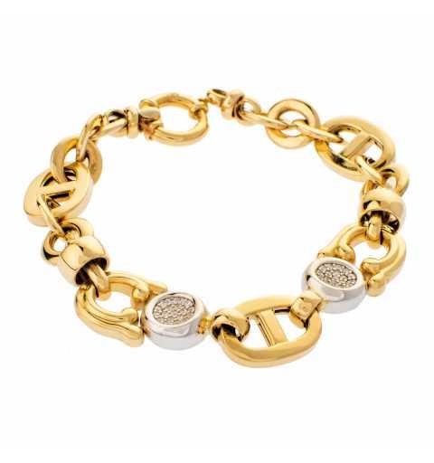 Złota bransoleta z...