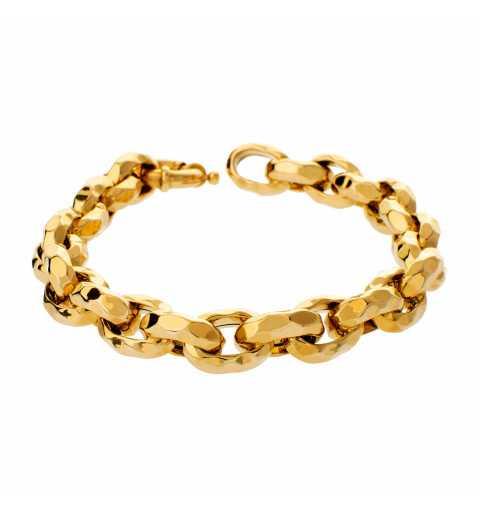Złota bransoleta z dużymi...
