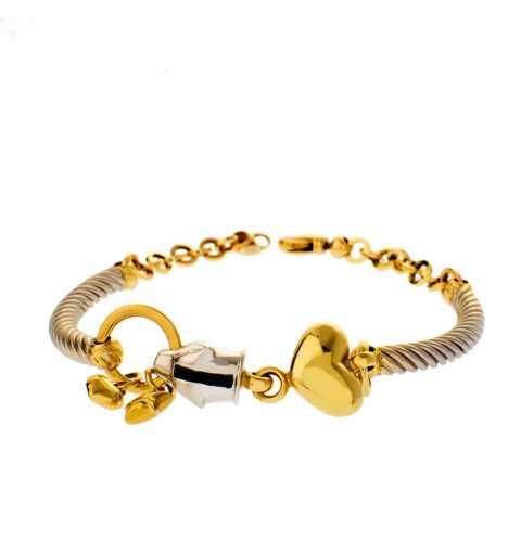 Złota bransoleta kot gepard...