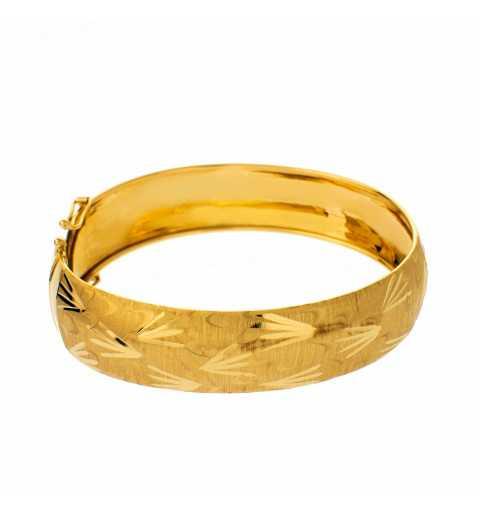 Złota bransoleta sztywna...