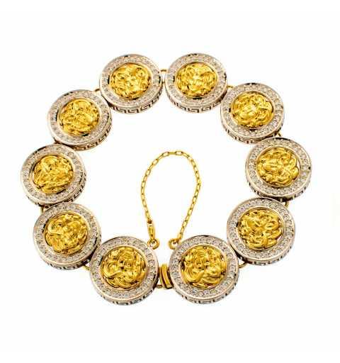 Złota bransoleta greckie...