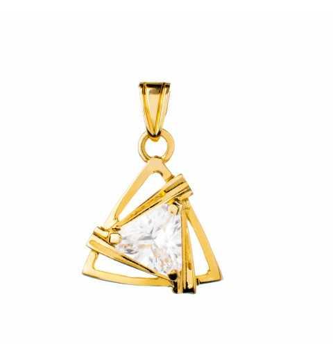 Złota zawieszka trójkąt z...