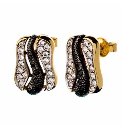 Złote kolczyki z wężem...