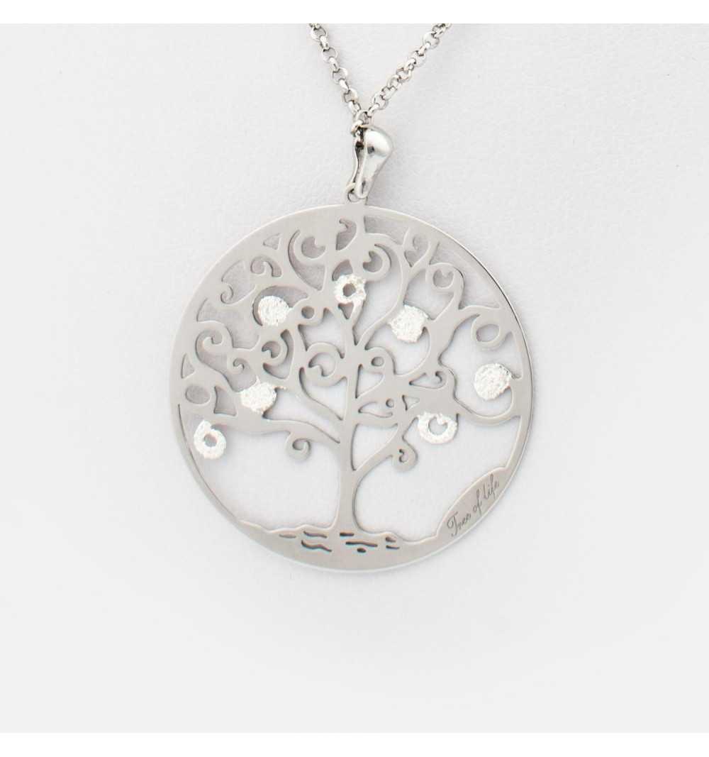 Srebrny naszyjnik drzewo życia