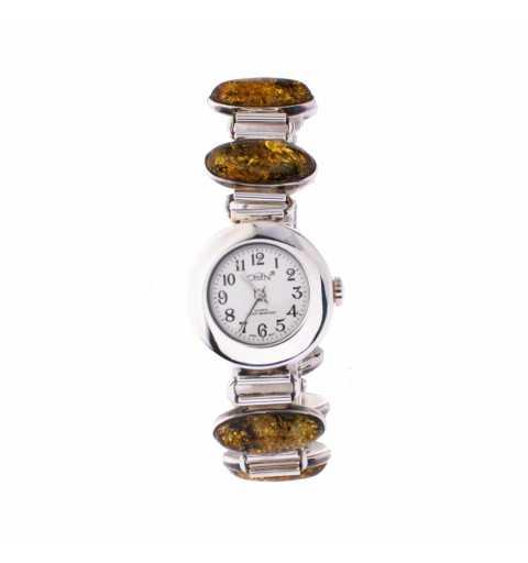 Srebrny zegarek na...