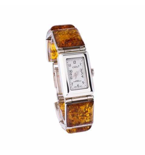 Srebrny zegarek w formie...
