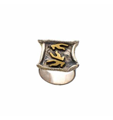 Srebrny pierścionek w...