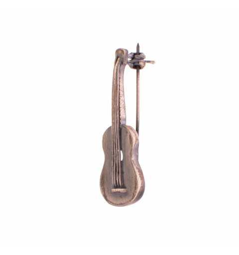 Srebrna broszka gitara