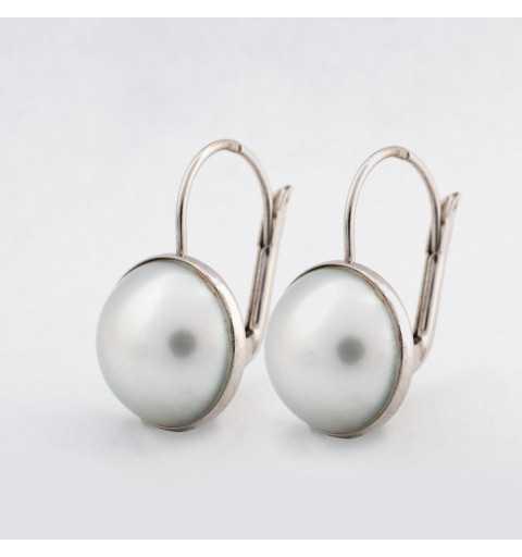 Kolczyki z białego złota perłami