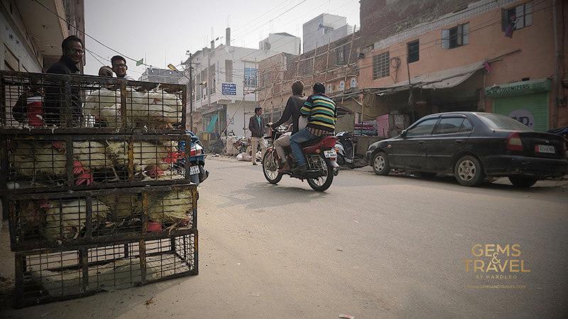 ulica w indiach - jaipur, handel uliczny