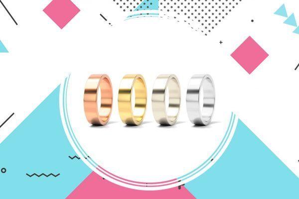 Obrączki ślubne w czterech różnych kolorach złota