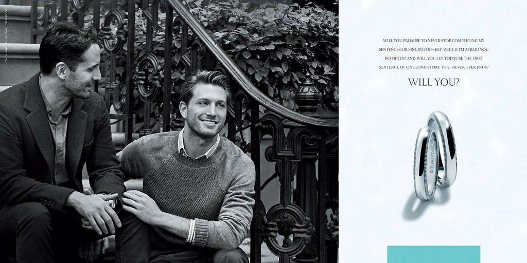 zdjęcie reklamy firmy biżuteryjnej Tiffany & Co: Will You?