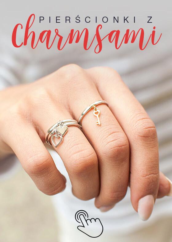 pierścionki z charmsami